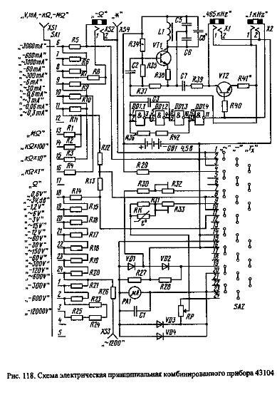 Схема прибора dt-830b