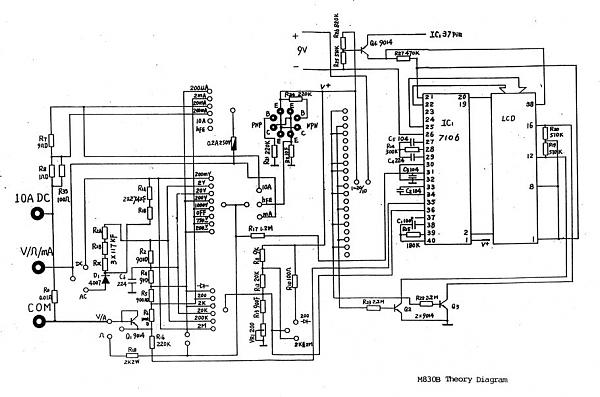 Вот схема для всех DT830b не