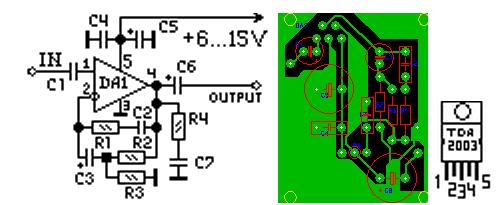 Схема умзч на к174ун14