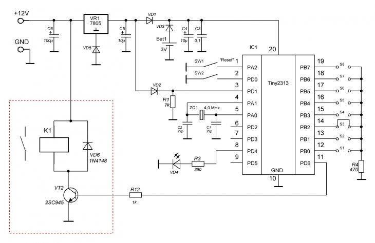 Схема циклического таймера для инкубатора на cd4060