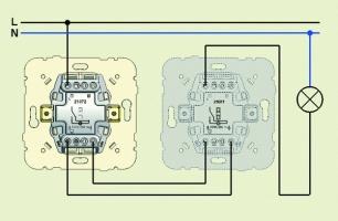 Как сделать проходной выключатель света фото 124
