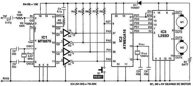 С выводов микроконтроллера PD0