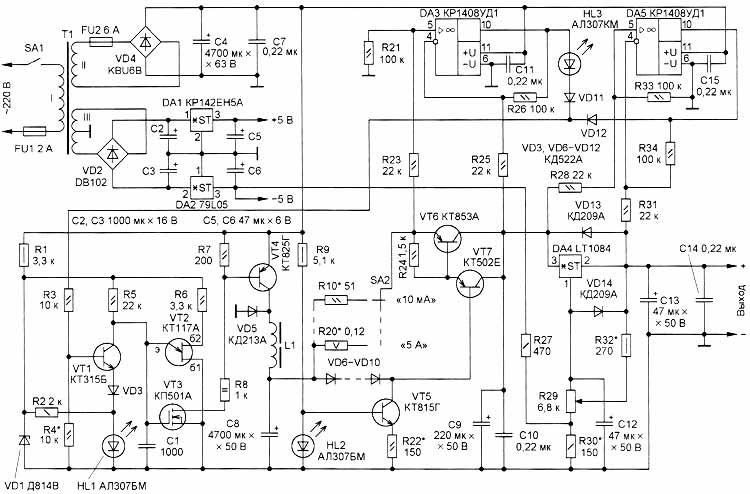 схеме стабилизатора тока