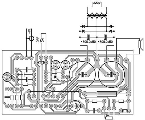 принципиальная схема унч на tda 7294
