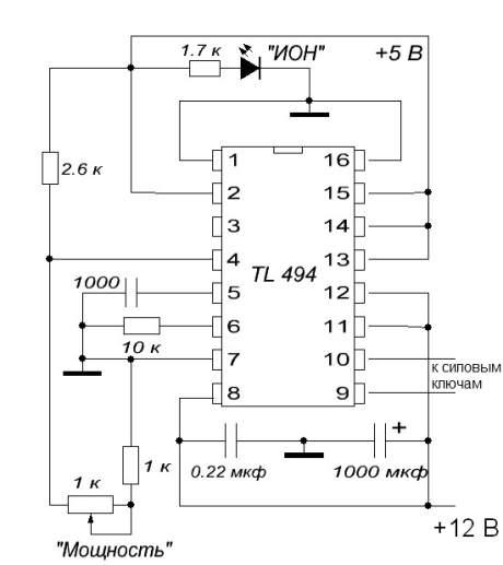 обвязки ШИМ-контроллера,