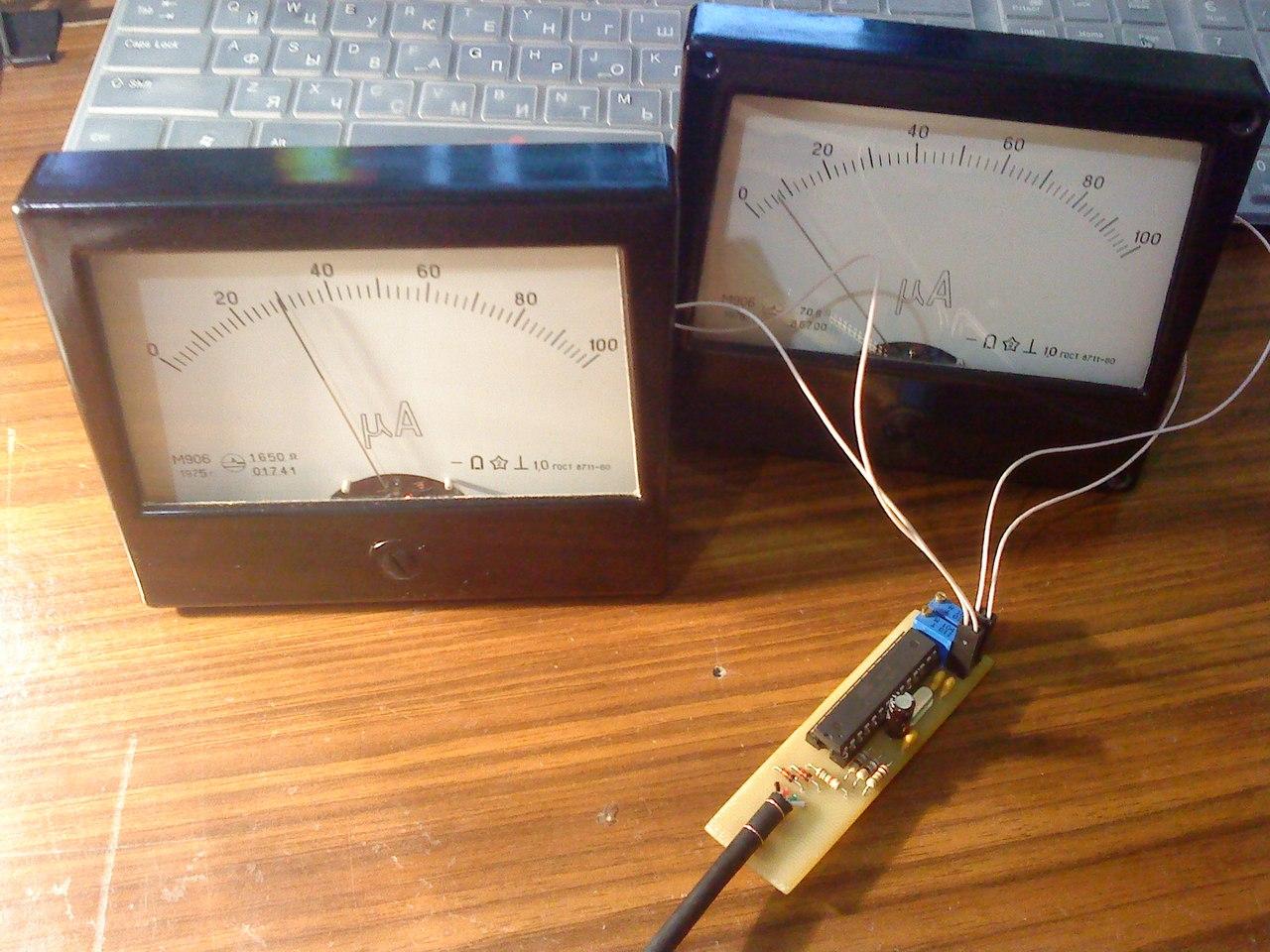 Термометр с индикатором своими руками 86