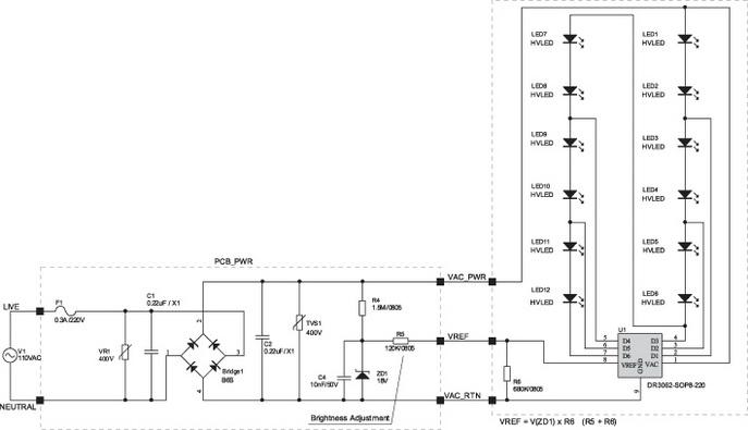 Типовая схема включения DR3062