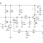Схема радиожучка с частотной модуляцией.