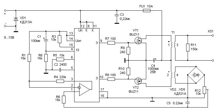 Как сделать стабилизатор для светодиодов в авто