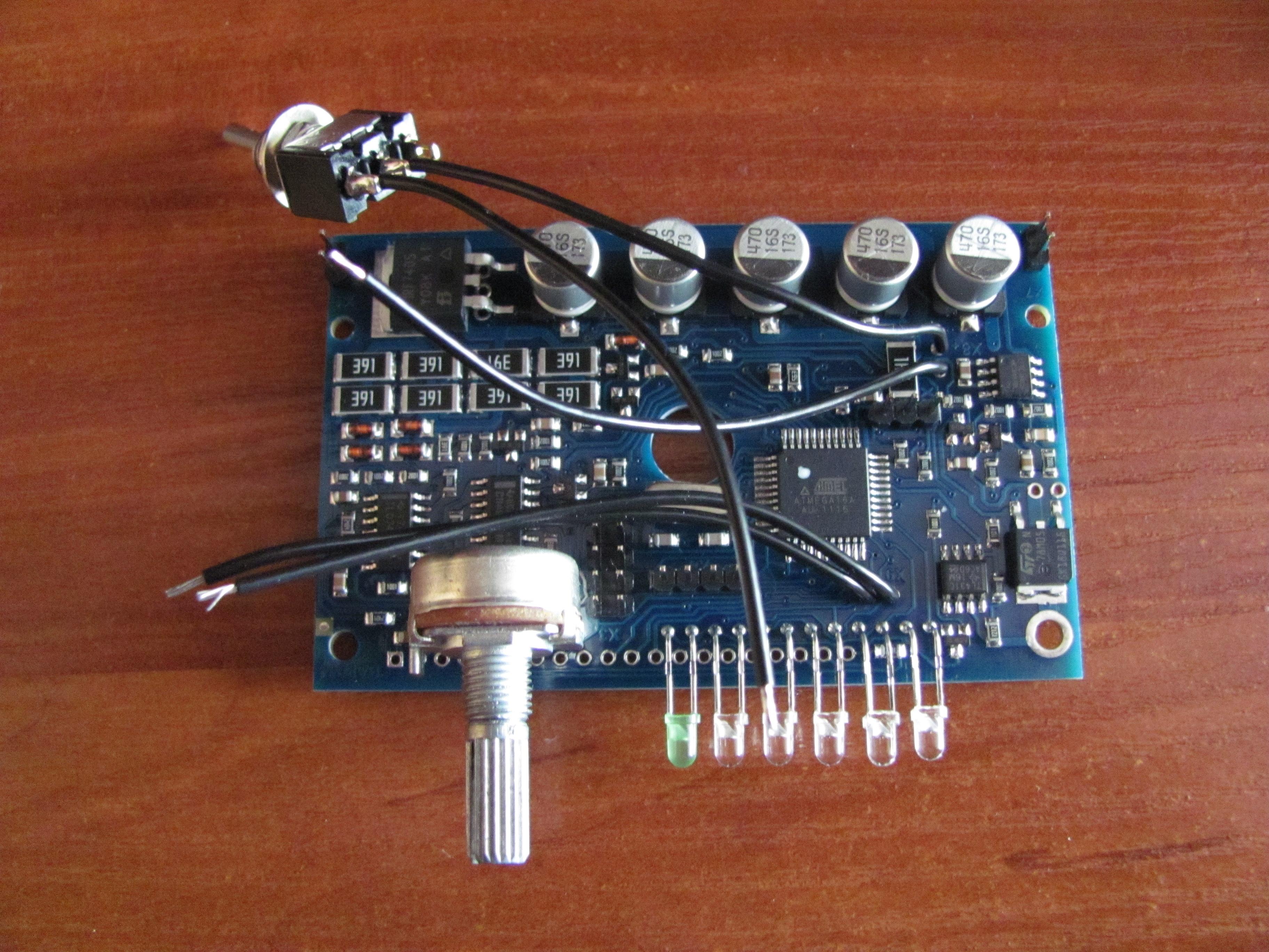 схема светодиодный индикатор для металлоискателя