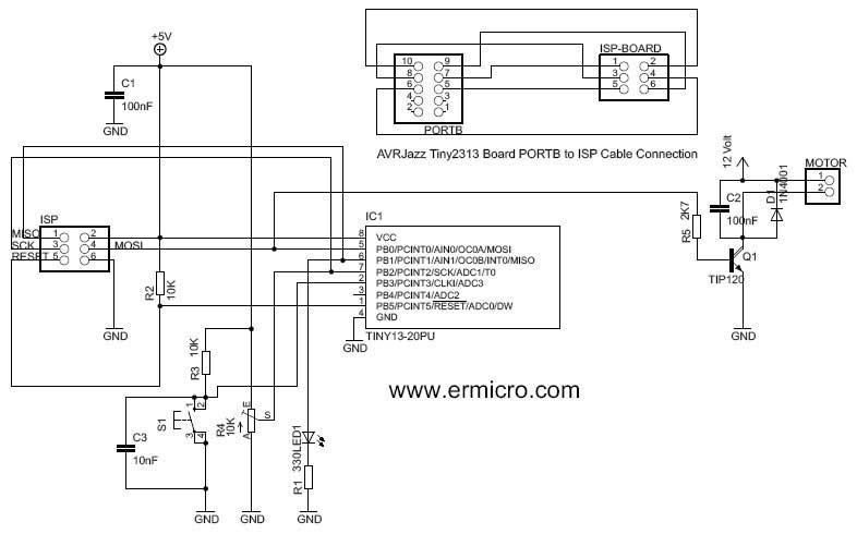Переменный резистор R4 (10K)