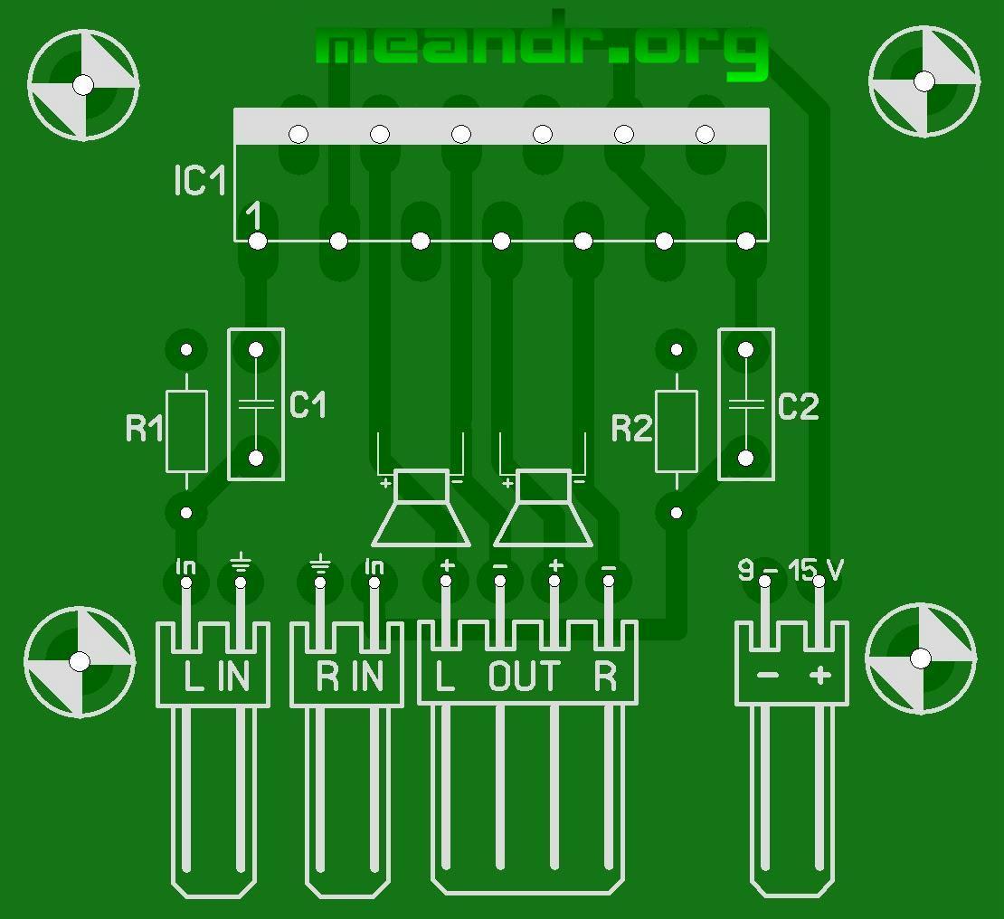 tda8560 печатная плата - Всемирная схемотехника.