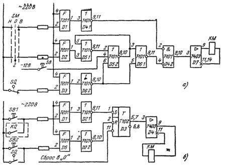 Схемы управления электродвигателем и ее элементы