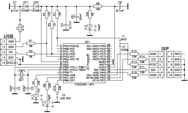 Usb программатор avr910 своими руками