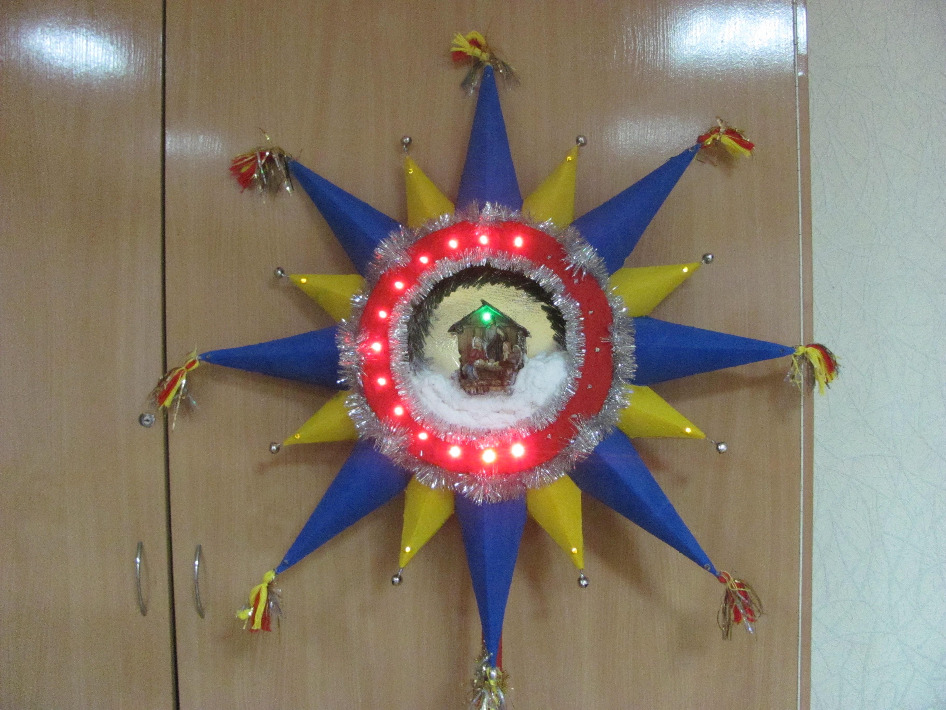 Поделка вифлеемская звезда и рождество 3