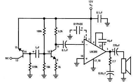 LM389N   INTEGRATED CIRCUIT DIP-18