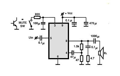 Tda7253 схема усилителя