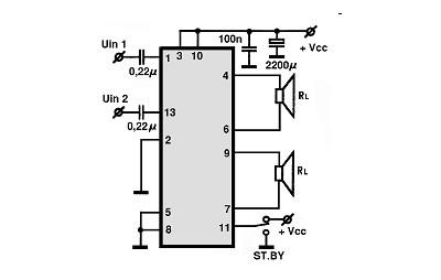 усилитель на tda1552q схема