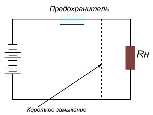 Схема включения предохранителя