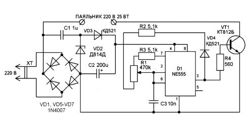 Термостабилизатор для паяльника 220в