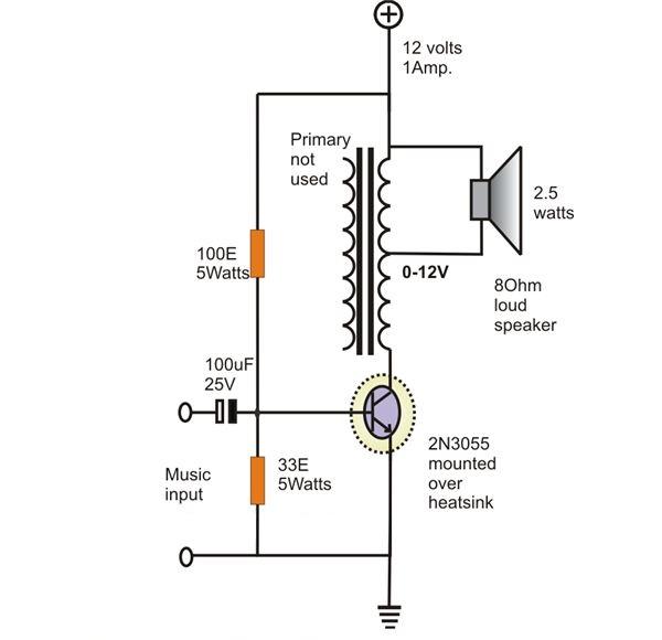Схема простого усилителя звука фото 369