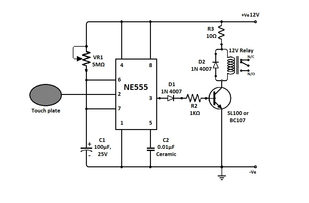 Сенсорный выключатель цепи Меандр занимательная
