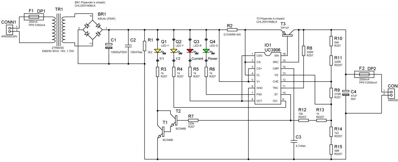Интеллектуальное зарядное устройство схема