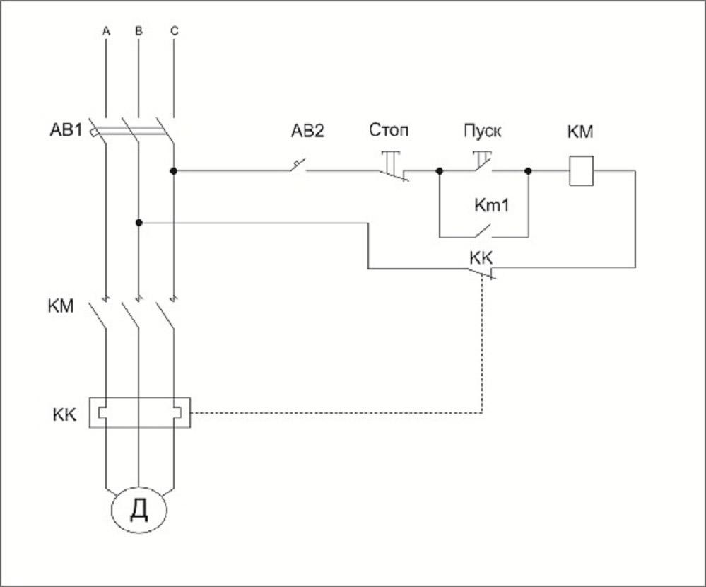 Асинхронный двигатель схема пуска