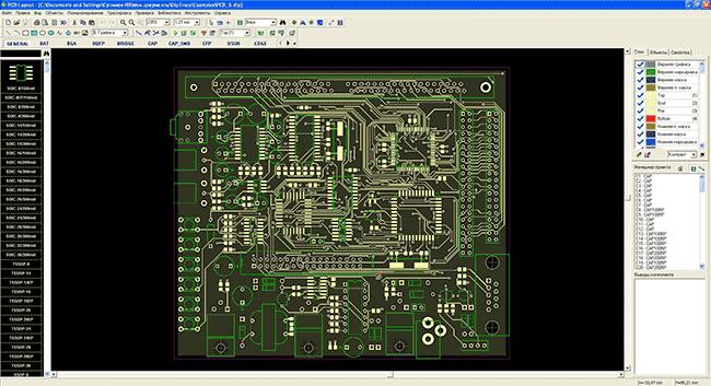 Модуль PCB Layout в ПО DipTrace.