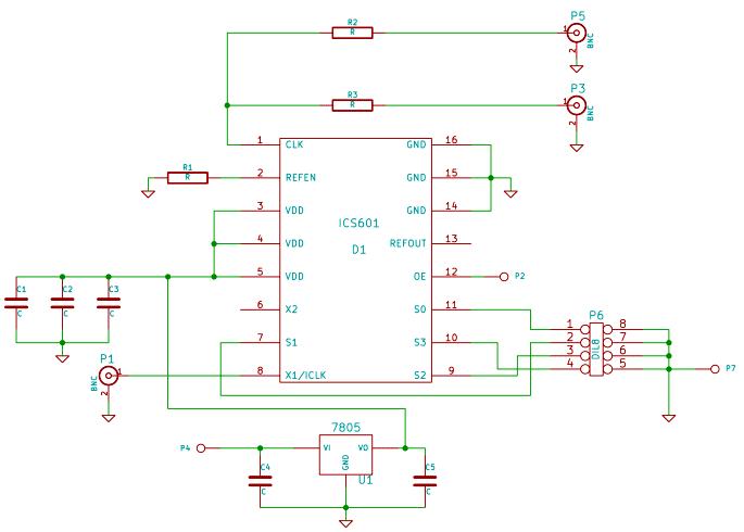 Схема простого умножителя