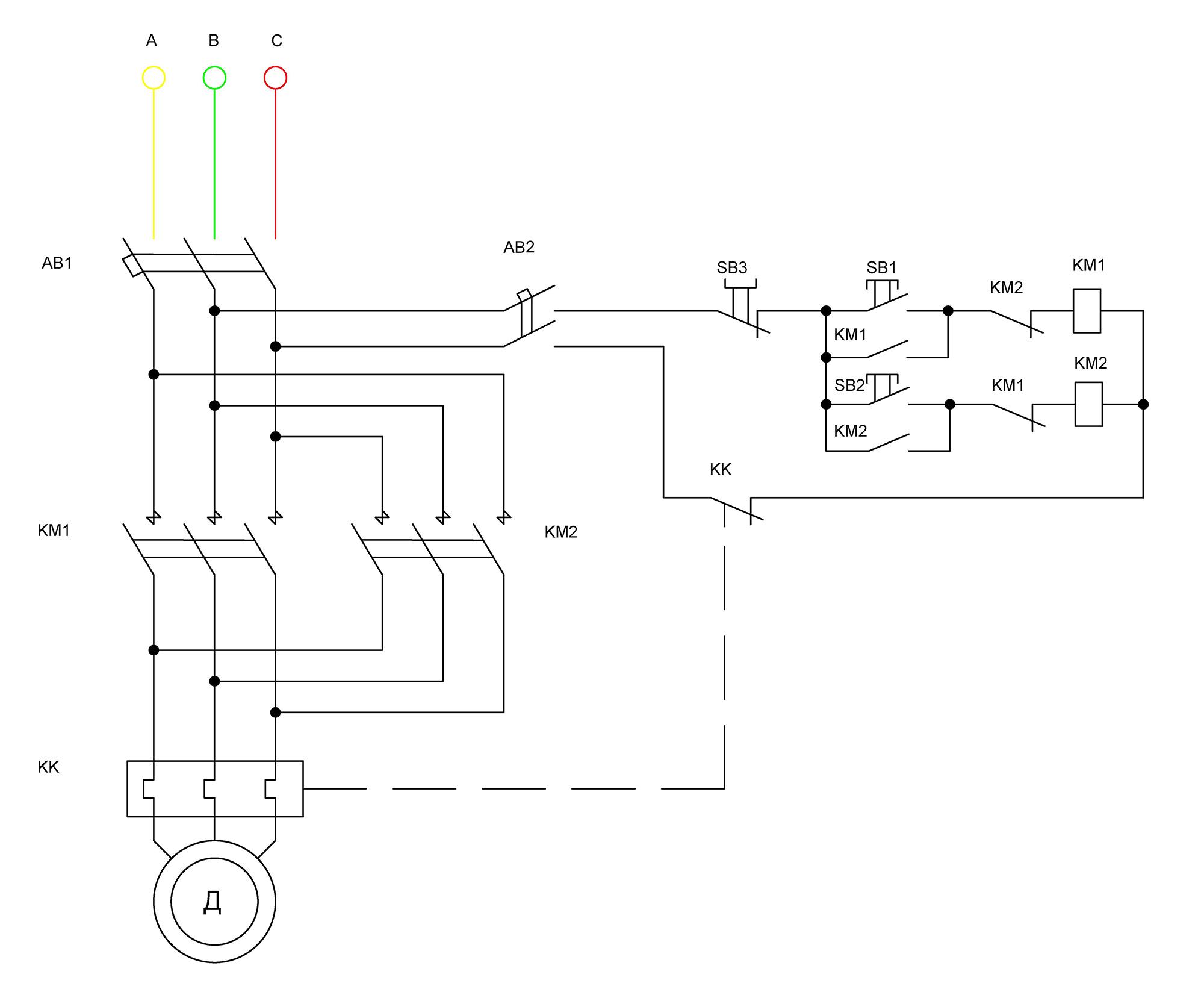 Пуск асинхронного электродвигателя схема фото 246