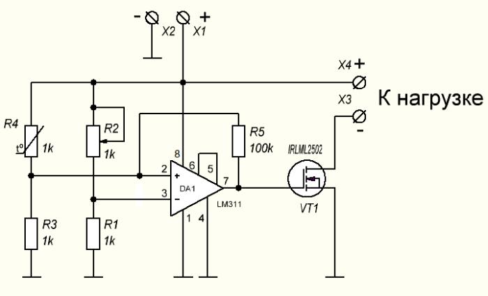 Lm311 схема компаратор