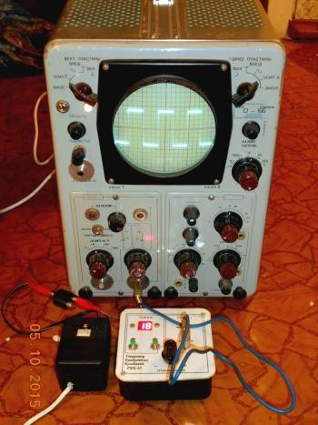 Рис.3 - Устройство подключено к осциллографу.