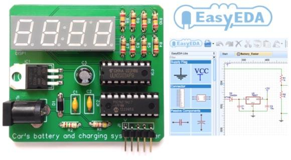 EasyEDA позволяет бесплатно рисовать принципиальные схемы, выполнять SPICE моделирование и разводить печатные платы.