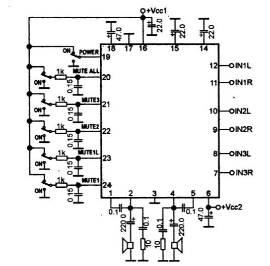 Усилитель звука на микросхеме TA2170FL