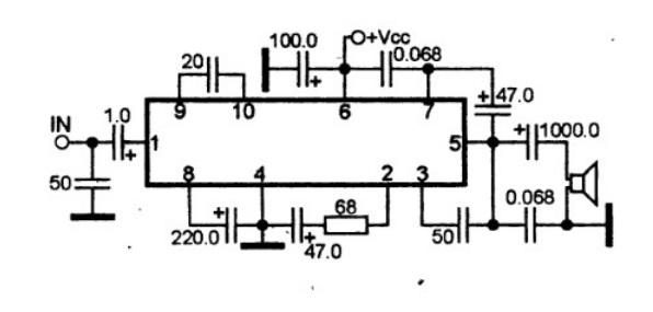 Усилитель звука на микросхеме TA7201P