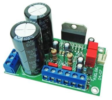 Усилитель мощности звука на LM4766, 2 × 20 Вт/8 Ом