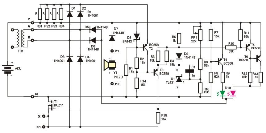 Eine Universal-Ladegerät für Blei-Säure-Batterien 12B, 1...30A·keine