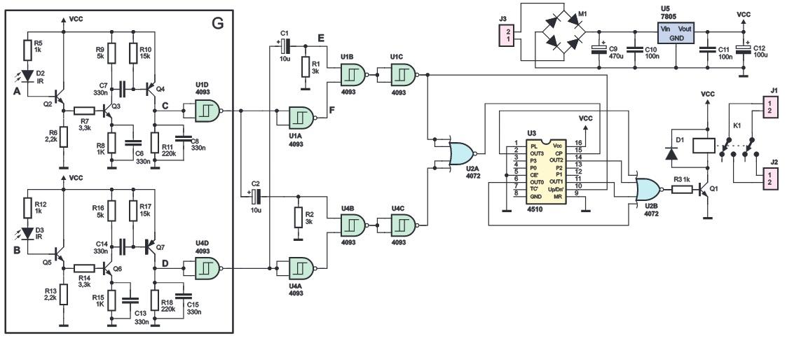 Автоматический выключатель освещения в помещении