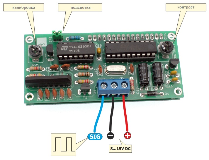 Frequency counter on the microcontroller ATTINY2313