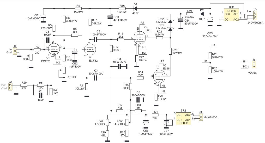 Amplificateur de puissance Tube 25 W