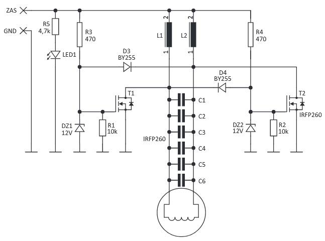 Схема індукційного нагрівача