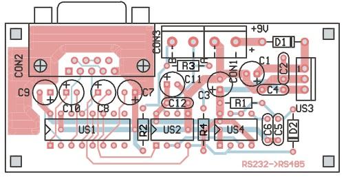 Circuito convertidor RS232 <-> RS485
