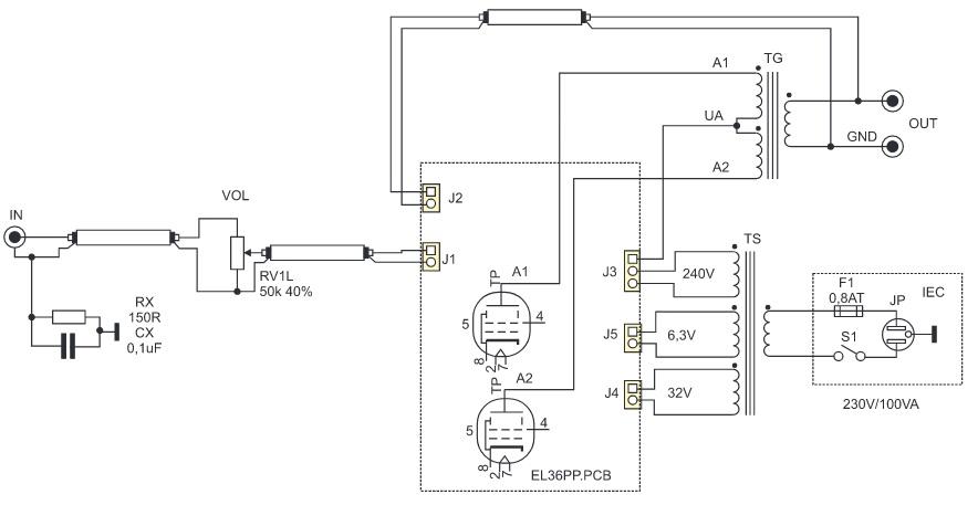 Schéma de raccordement EL36PP