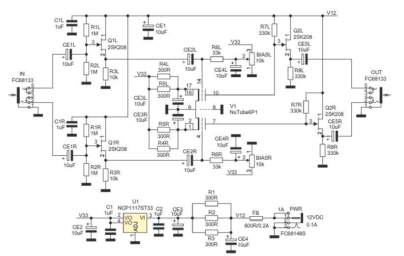 Предусилитель на лампе Nutube 6P1