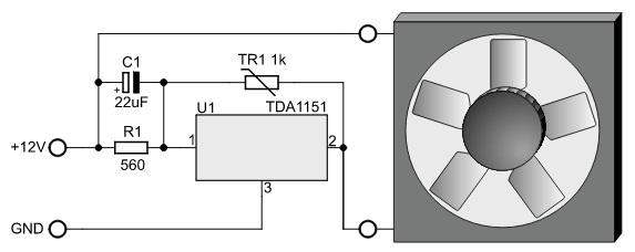 Thermostat simple pour ventilateur sur TDA1151